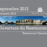 Affiche de l'ouverture de Elysée Lounge
