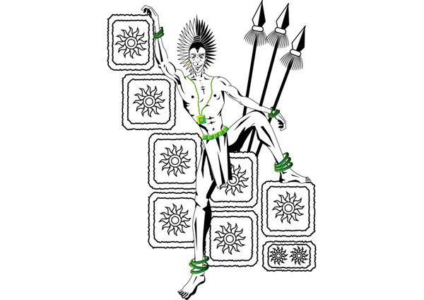 Illustrations : Mayan Warrior