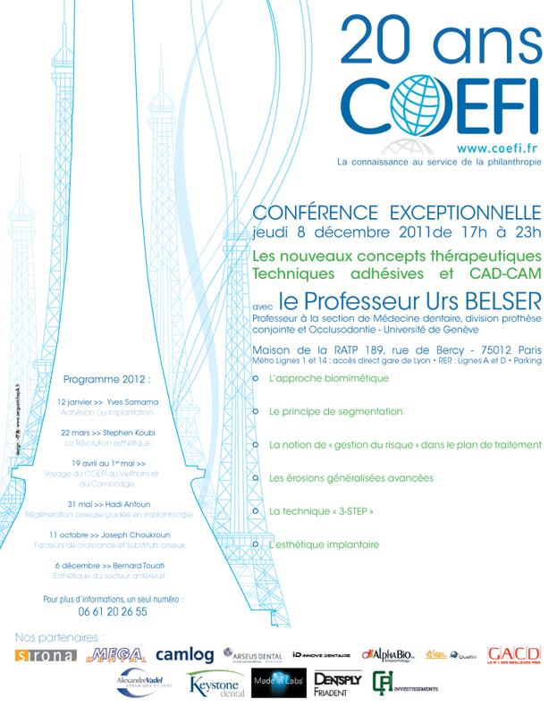 Annonce Presse 20 ans de COEFI - 2011